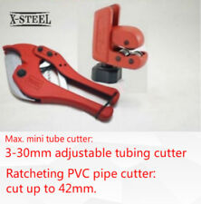 X-Steel Max Mini 3-30mm Tube + 42mm Ratcheting PVC Pipe Cutter Plumber Tool