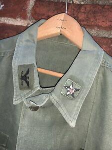 Vintage Vietnam War US ARMY OG- 107 Military Uniform  Baker  Rare Size XL