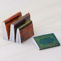 4 Pcs 1/12 Dollhouse Miniature Accessories Mini Books Simulation Notebook M S3U0