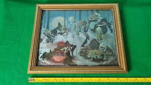 Dufex Foil Art Print The Barbecue Picnic Witch Fantasy Janet Grahame Johnstone