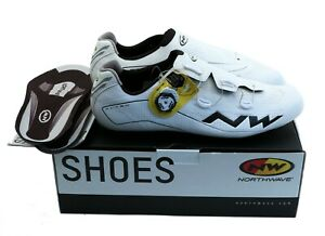 Northwave Flash Cycling Shoes Size 46 13US White/Black SLW2 NEW in Box