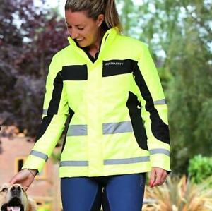 Equisafety Winter Reversible Inverno Riding Jacket Yellow