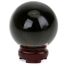 Natural Black Obsidian Sphere 15mm Crystal Ball Healing Stone DIY Home Decor