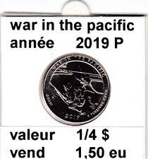 e1 )pieces de 25 cent  2019 P   war in the pacific   voir description
