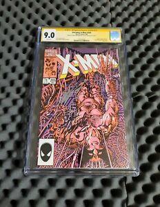 Uncanny X-Men #205 CGC 9.0 SS Stan Lee autograph Chris Claremont WP Key Cover🔥