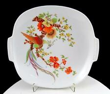 "KAISER GERMAN MOTTAHEDEH DESIGN OLIVIA FIRE BIRD 8 1/8"" RARE HANDLED PLATE"