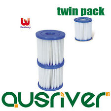 Brand New Twin Pack Bestway Size II Filter Cartridges 58094 For Swimming Pool