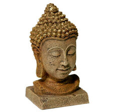 """BLUE RIBBON EXOTIC AQUA ENVIRONMENT BUDDHA HEAD ORNAMENT 6"""" FREE SHIP USA ONLY"""