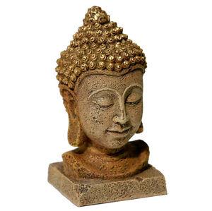 Blue Ribbon Pet Thai Buddha Bronze Statue Aquarium Ornament Aquatic 6 Inch