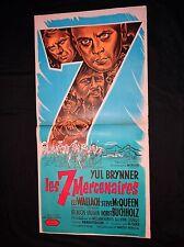 LES 7 MERCENAIRES  the magnificent seven  mcqueen affiche cinema 1er sortie 1960