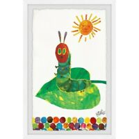 "'Sunning Caterpillar"" painting by Eric Carle. Print from Marmont Hill.18"" x 12"""