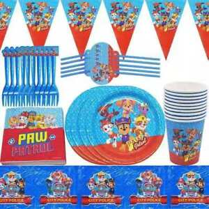 PAW PATROL PARTY PACK PLATES CUPS NAPKINS BIRTHDAY PARTY 10 GUESTS 40 PIECES