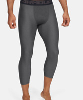Under Armour Training Leggings Mens 2XL or 3XL New HeatGear Compression 3/4 Gray