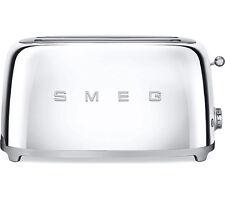 SMEG Chrome TSF02SSUK 4 Slice Toaster Xtra Wide Retro 50s Style 2 Year Guarantee