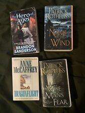 Brandon Sanderson Ann Mccaffrey Science Fiction Fantasy Book lot 8 Items