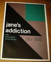 JANE'S ADDICTION ROCK CONCERT POSTER SWISS PUNK GRAPHIC POP ART VACAVILLE CA