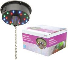 Nouvelle Batterie Moteur Rotatif Miroir Paillettes Boule 18 Lumières DEL DJ Disco