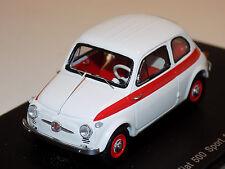 1/43 Spark Street Fiat 500 Sport 1958 in White S2691