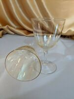 "Iridescent, Pearlescent Vintage Wine/ Cordial Glasses, set of 2, 5"" Tall"