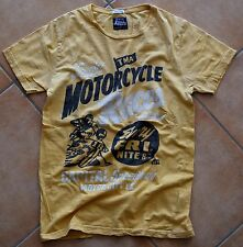 SUPERDRY Vintage T-Shirt | Used Yellow / Gelb - Motorcycle Japan - Gr.S / Small
