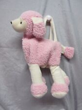 STUFFED PLUSH PINK POODLE PURSE WITH HANDLES & ZIPPER - NEW