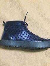 triple royal blue spike tennis shoes men Sz 11 Fiessco/ Encore.