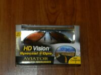 New- HD Vision Special Ops AVIATOR Polarized Sunglasses HDAVAOPSBK 754502041794