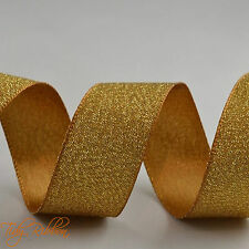 25mm Satin Glitter Ribbon Cut Length Sparkle Effect Sewing Crafts Christmas