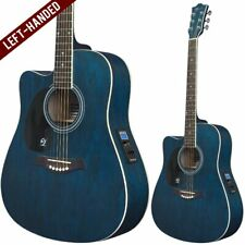 Lindo Left Handed Willow Electro Acoustic Cutaway Guitar Preamp Padded Gig Bag