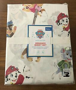 Pottery Barn Kids PAW PATROL Organic Sheet Set FULL  Nickelodeon