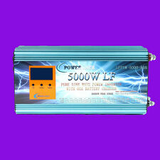 LCD 5000W LF Pure Sine Wave, Power Inverter, DC 24V to AC 230V, Charger/UPS