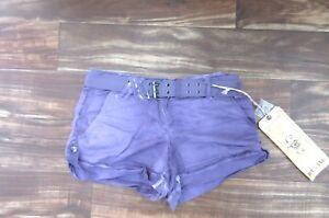 NEW Da Nang Women's Cuffed Cargo Shorts w/ Belt MOTH Size SMALL CLN5379