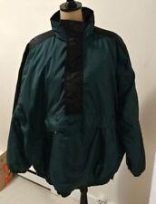 Nike Nylon Pull Over Jacket Coat Half Zip Men Size XL Green Black