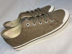 KEEN Elsa lV Sneaker 1024062 Khaki/Beige Canvas Lace Women's Size 6 $90 NEW