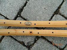CB ITALIA pair (#2 rims) MILANO vintage wooden rims for tubular tires