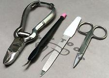 Pro Beauty Kit De Uñas Cortadores Empujador de cutícula Tijeras Lima De Uñas Manicura Pedicura