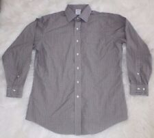 Brooks Brothers 346 Mens Non Iron Slim Fit Checkered Dress Shirt Button Up
