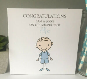 Personalised Adoption Card Forever Family Son Grandson Nephew