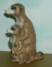 "Meerkat with Baby Wild Animal Plastic Toy Figure (4.5"" Tall) Safari Ltd 267029"