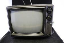 "Vtg 1980s KTV CRT 13"" Color TV - Old School Dials & Knobs -Retro"