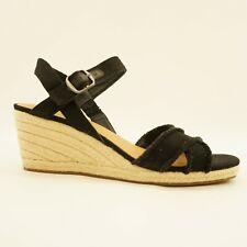 Lucky Brand Womens Shoe Margaline Espadrille Wedge Heel Sandals Black 11M