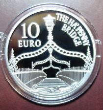 IRELAND 10 EURO SILVER PROOF COIN.  2017. THE HA'PENNY BRIDGE, DUBLIN