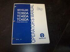 New Holland TC35DA TC40DA TC45DA Tractor Owner Owner's Operator Manual
