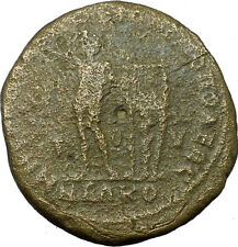 ELAGABALUS 218AD Philippopolis in Thrace Apollo Lyre on Tripod Roman Coin i35151
