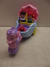 FISHER PRICE LITTLE PEOPLE LITTLE MERMAID PRINCE ERIC PRINCESS ARIEL'S COACH