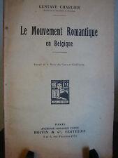 Le Mouvement Romantique en Belgique CHARLIER Tiré à part