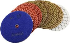 """5"""" Wet Diamond Polishing Pads Set of 8 PCS with White Buff for Granite/Marble"""