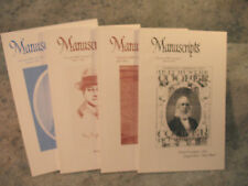Manuscripts Society lot issues spring summer fall winter 2011 native american &