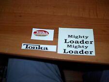 MIGHTY TONKA LOADER DECAL SET