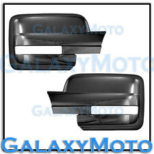 09-13 Ford F150 Truck Triple Black Chrome Mirror w/ Turn Light Signal Full Cover